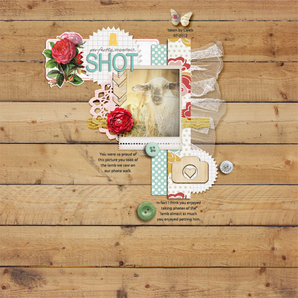 digital scrapbook layout inspiration