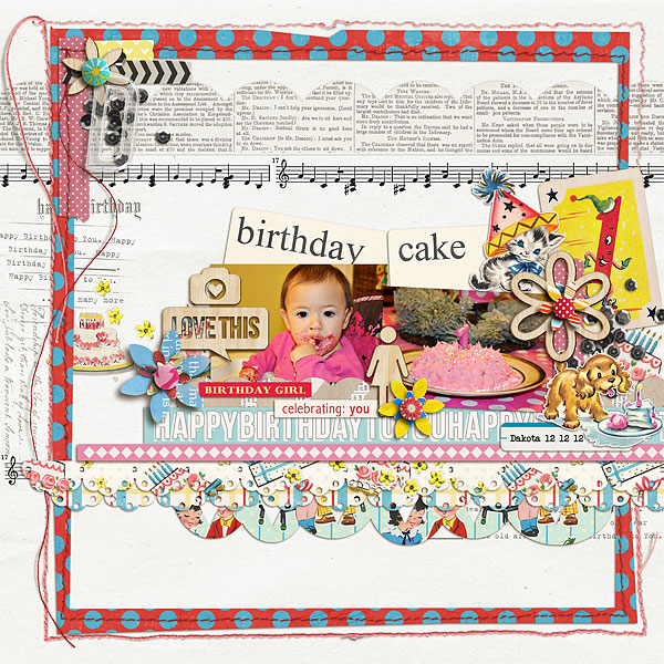 scrappydonna - inspirational scrapbook layout