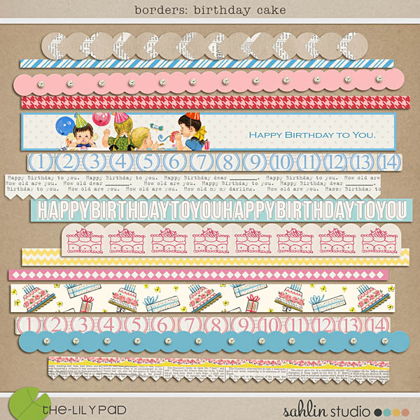birthday cake: borders by sahlin studio