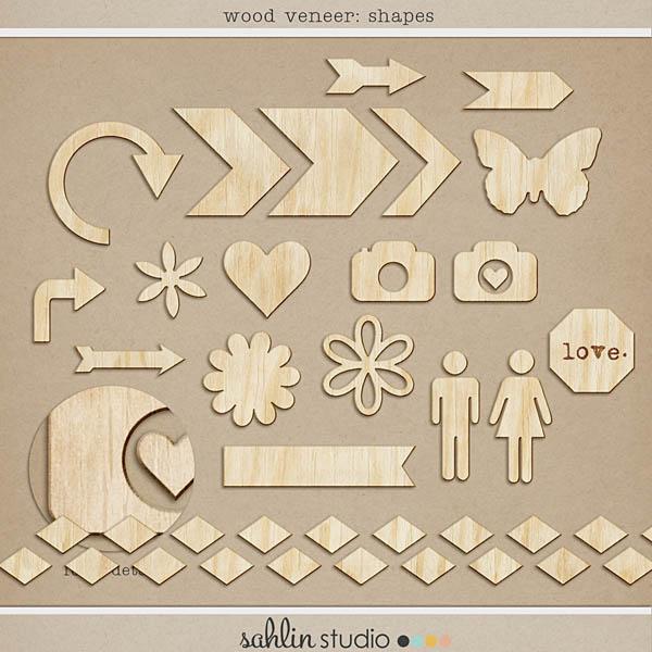 Wood Veneer: Shapes by Sahlin Studio