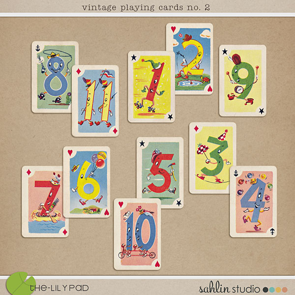 vintage playing cards no.2 by sahlin studio
