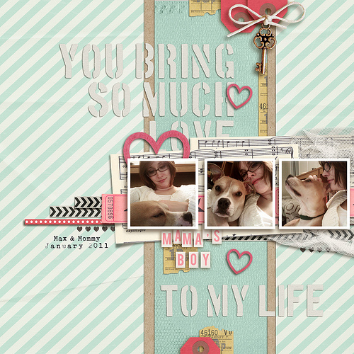 digital scrapbook layout inspiraiton by breeoxd