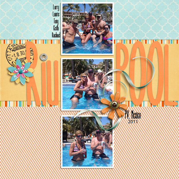 digital scrapbook layout inspiraiton by lor