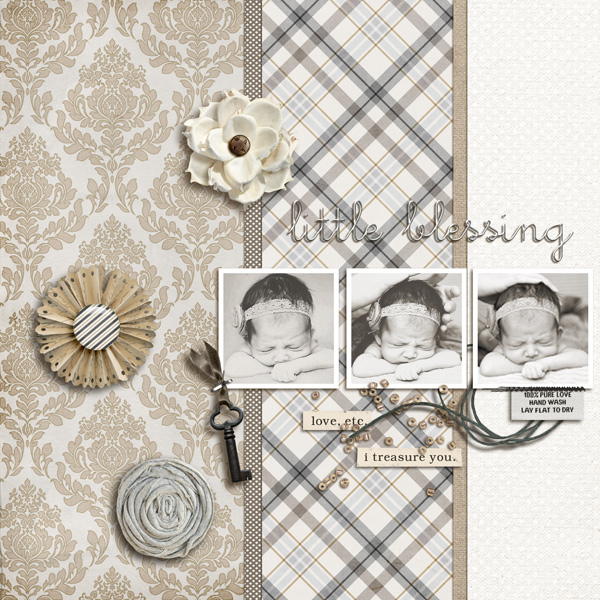 digital scrapbook layout inspiraiton by sucali