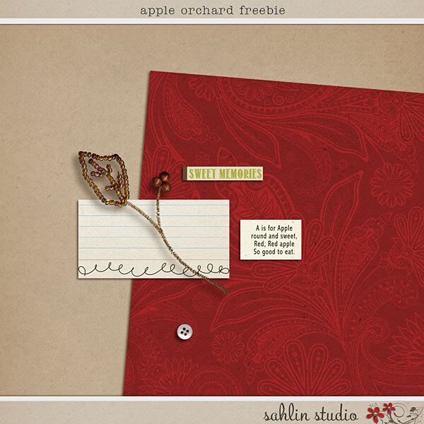 Apple Orchard Freebie by Sahlin Studio