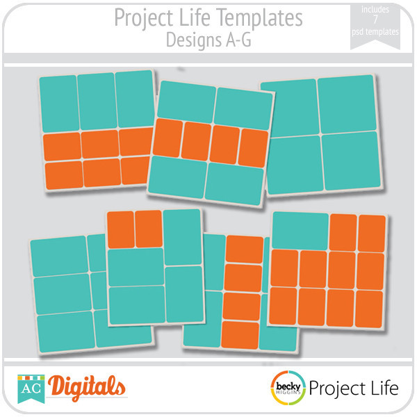 Project Life Templates Designs A-G