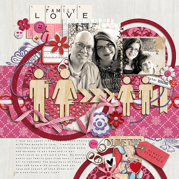 gonewiththewind - inspirational scrapbook layout