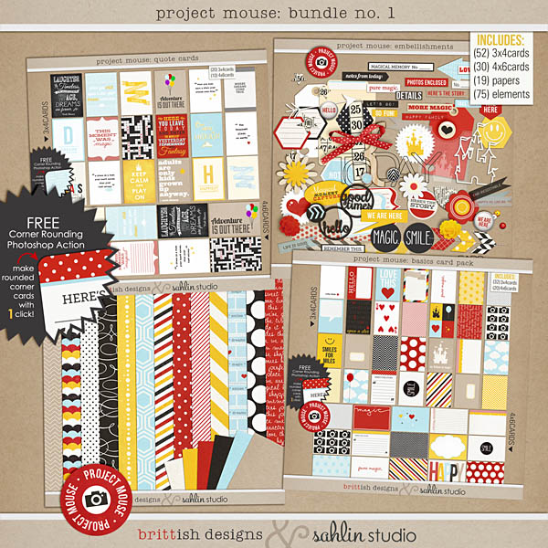 Project Mouse: BUNDLE No. 1 Basics by Britt-ish Designs and Sahlin Studio