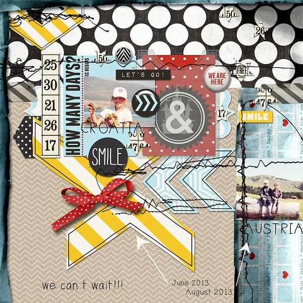 Hanazana - inspirational scrapbook layout