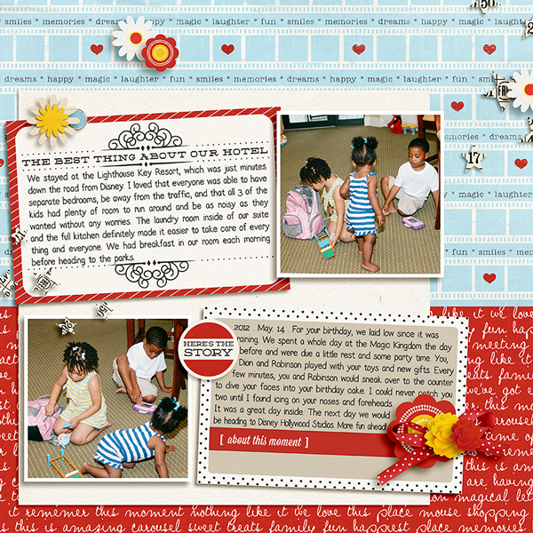 Tronesia - inspirational scrapbook layout