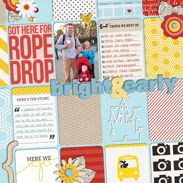 littlemuffin06 - inspirational scrapbook layout