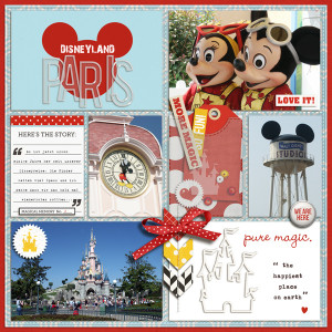 sucali - inspirational scrapbook layout