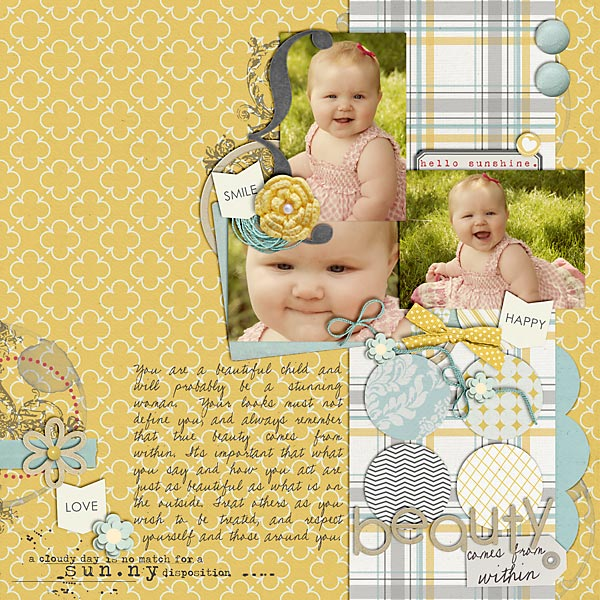 digital scrapbook layout inspiration by amber565