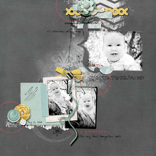 digital scrapbook layout inspiration by amberr