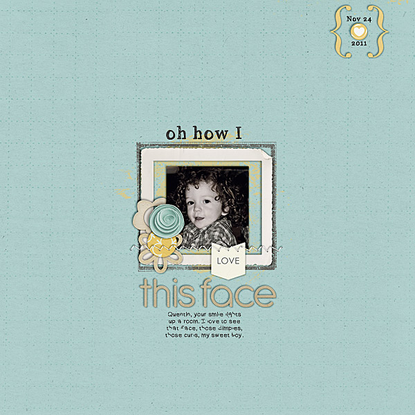 digital scrapbook layout inspiration by charmedeebob