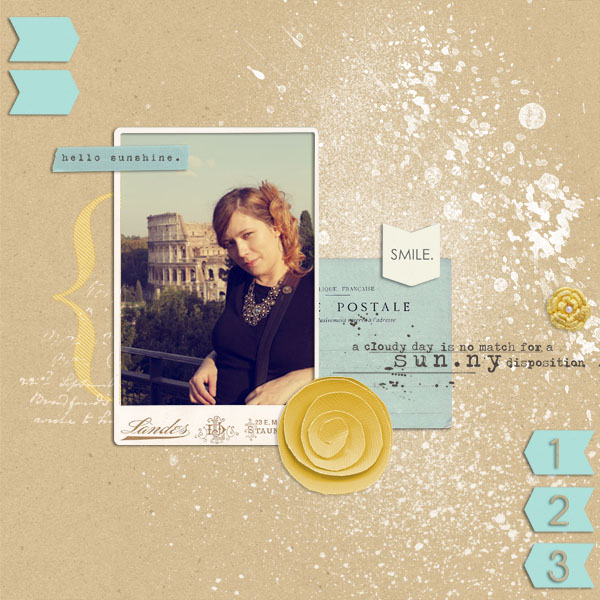 digital scrapbook layout inspiration by dul