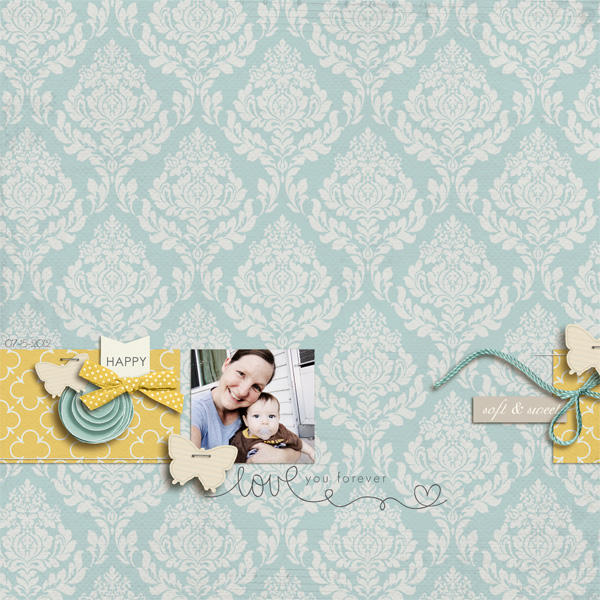 digital scrapbook layout inspiration by hillary