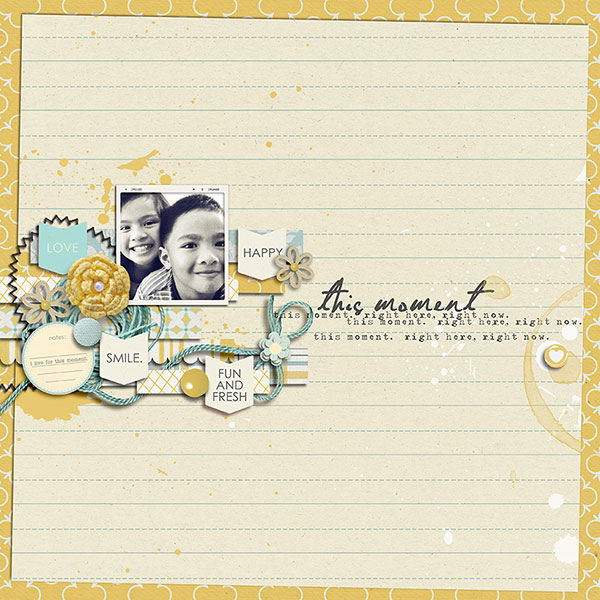 digital scrapbook layout inspiration by margelz