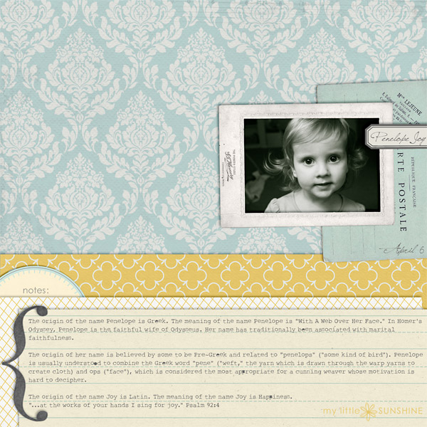 digital scrapbook layout inspiration by nicoleseitler
