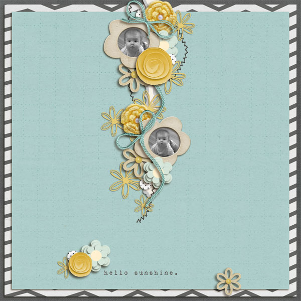 digital scrapbook layout inspiration by scrappycharmer