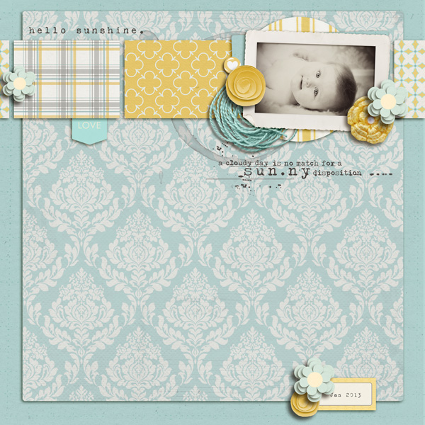 digital scrapbook layout inspiration by sucali