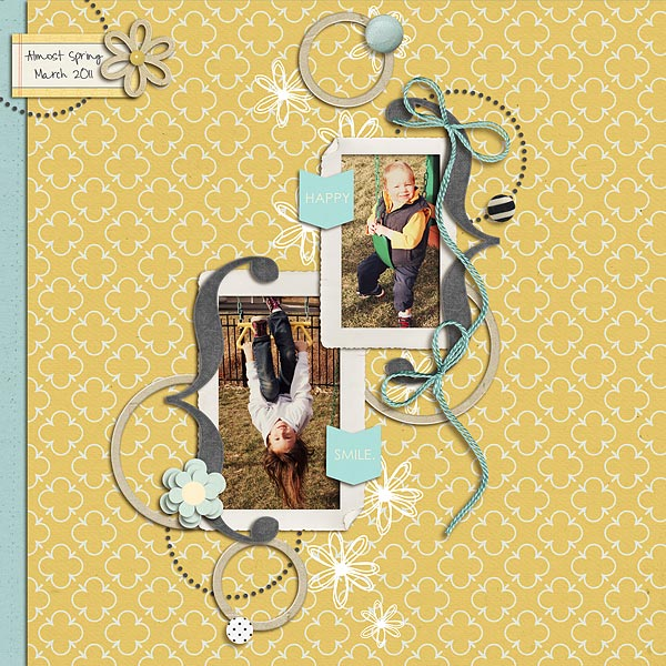 digital scrapbook layout inspiration by sunshinetk