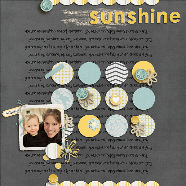 digital scrapbook layout inspiration by yellowpeep