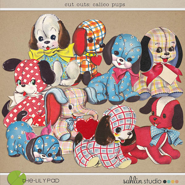 cut outs: calico pups by sahlin studio