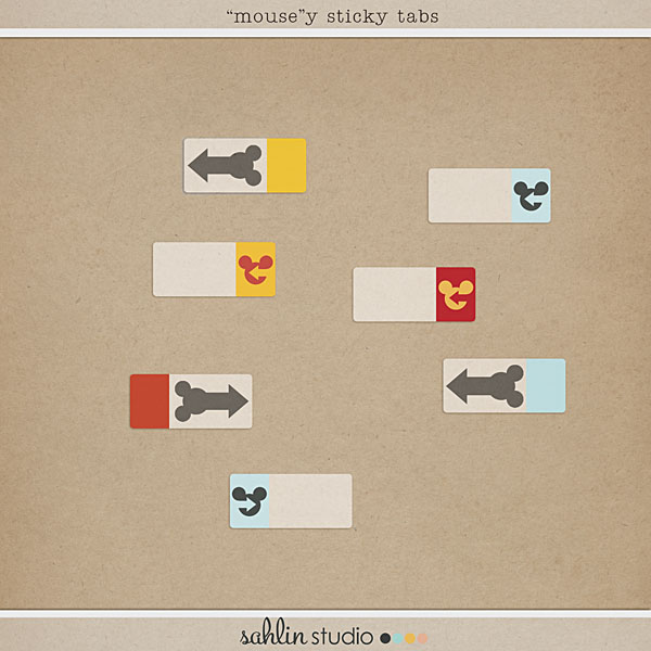 Mousey Stickey Tabs by Sahlin Studio