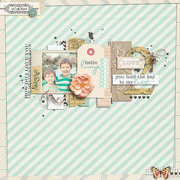 digital scrapbook layout inspiration by carolee
