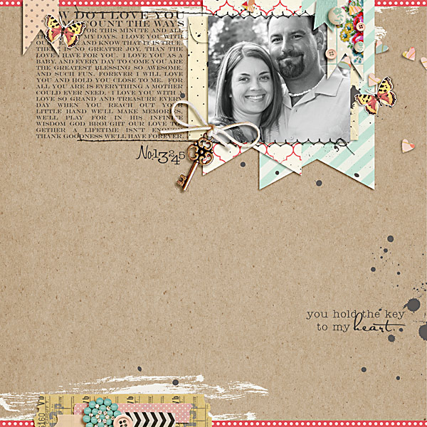 digital scrapbook layout inspiration by carrie1977