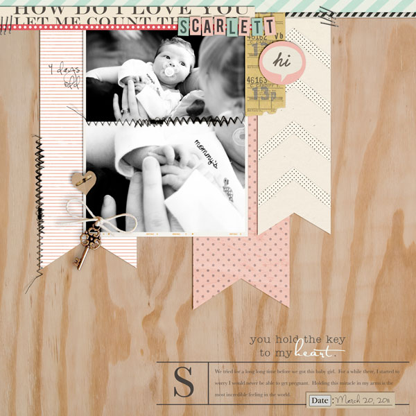 digital scrapbook layout inspiration by designerbrittney