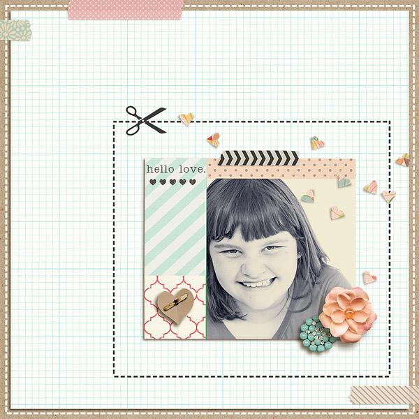 digital scrapbook layout inspiration by kimbytx