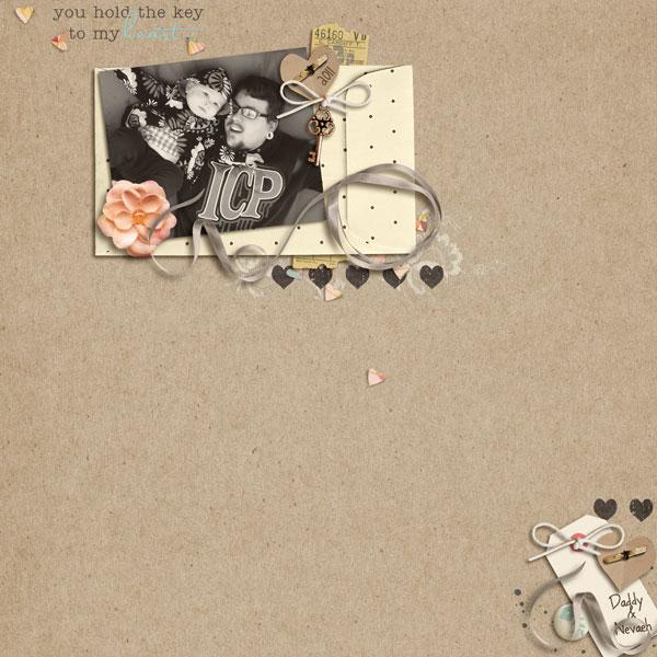 digital scrapbook layout inspiration by lor