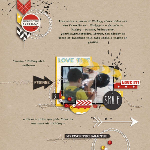 AnaPaula - inspirational scrapbook layout