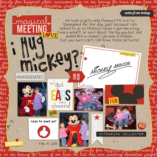 jenna - inspirational scrapbook layout
