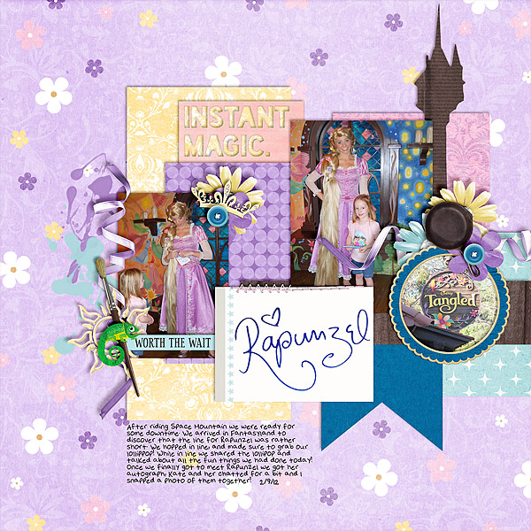 christie - inspirational scrapbook layout