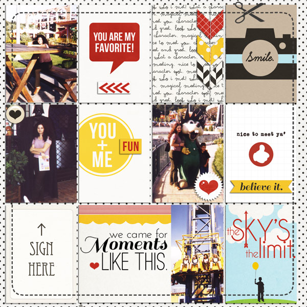 damayanti - inspirational scrapbook layout