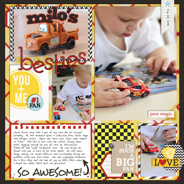 justalisfine - inspirational scrapbook layout