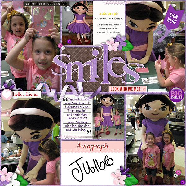 melinda - scrapbook layout