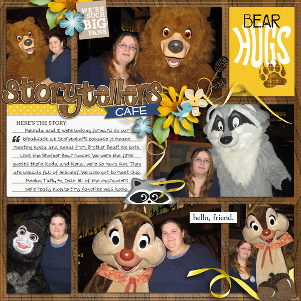 yzerbear19 - scrapbook layout