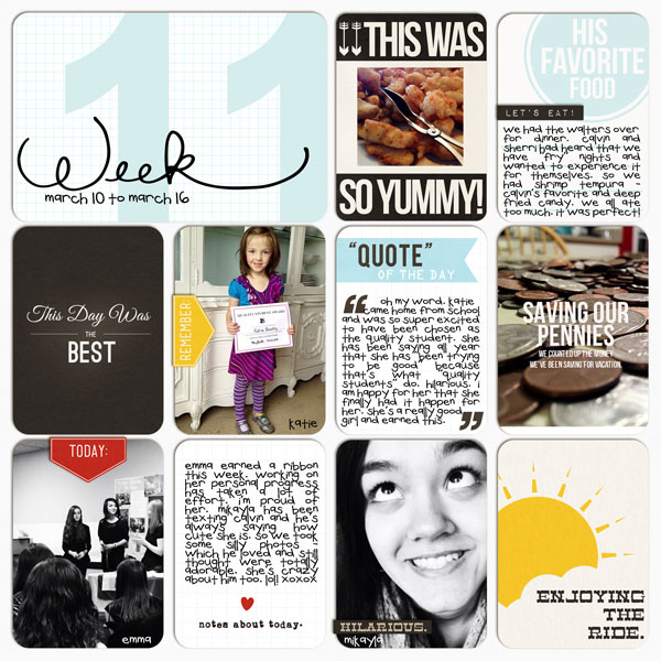 neeceebee - inspirational scrapbook layout