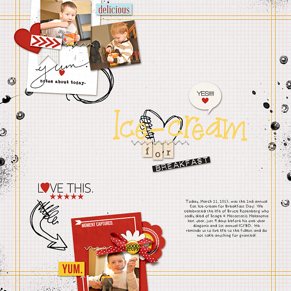kim21673 - inspirational scrapbook layout