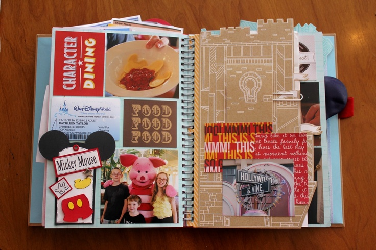Disney Smash Book by Kathleen Taylor featuring Project Mouse by Britt-ish Designs and Sahlin Studio - Food