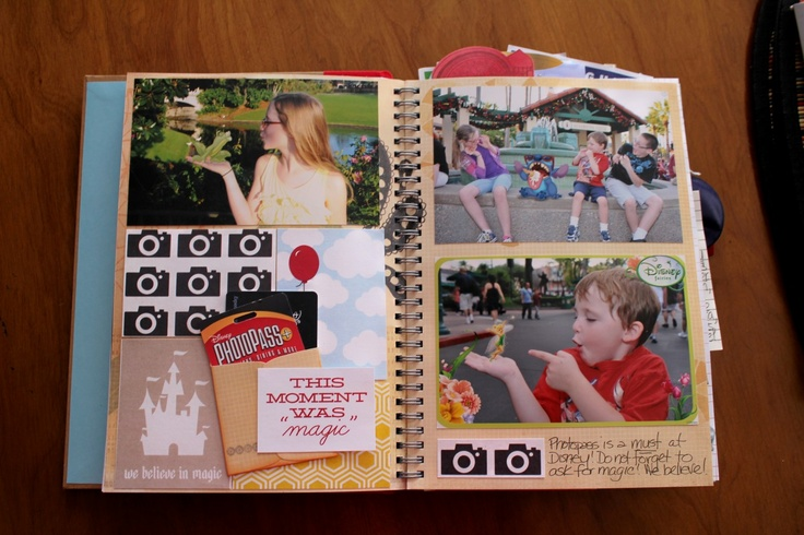 Disney Smash Book by Kathleen Taylor featuring Project Mouse by Britt-ish Designs and Sahlin Studio - Photopass