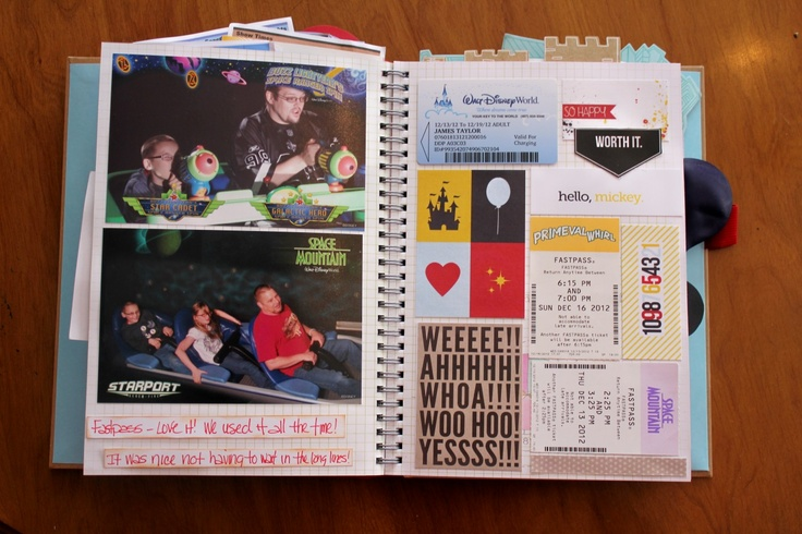 Disney Smash Book by Kathleen Taylor featuring Project Mouse by Britt-ish Designs and Sahlin Studio - Fastpasses