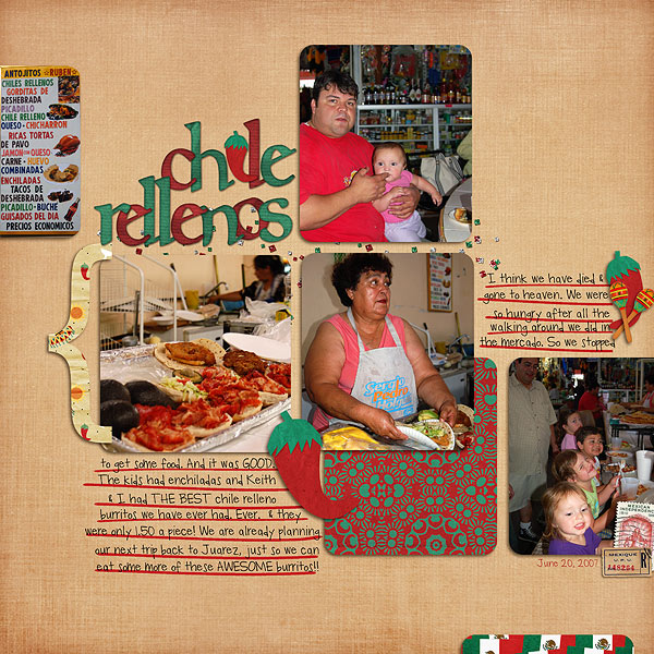 Digital Scrapbook Page created by kv2av featuring Taste of Mexico by Sahlin Studio & Britt-ish Designs