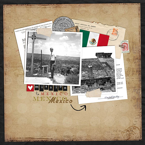 Digital Scrapbook Page featuring Taste of Mexico by Sahlin Studio & Britt-ish Designs - 2