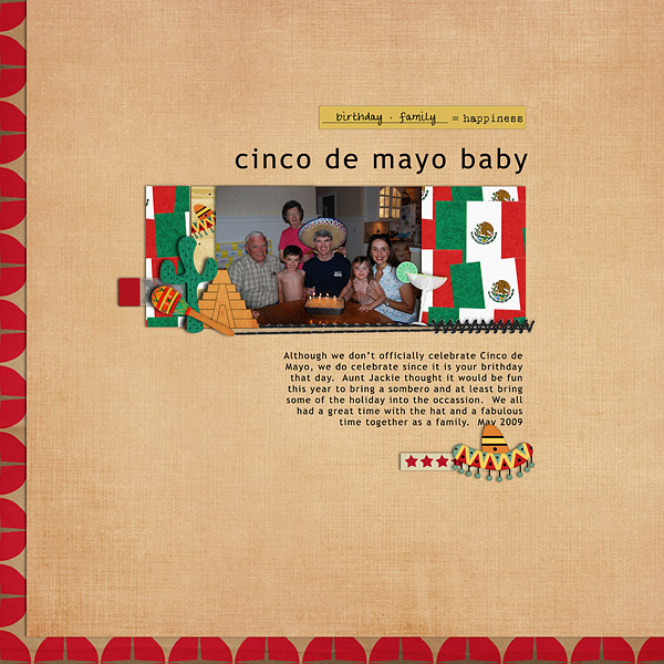 Digital Scrapbook Page featuring Taste of Mexico by Sahlin Studio & Britt-ish Designs - 5