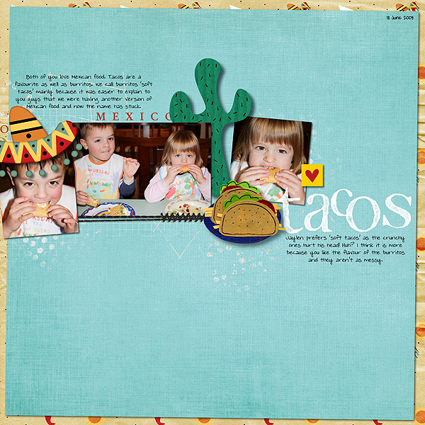 Digital Scrapbook Page featuring Taste of Mexico by Sahlin Studio & Britt-ish Designs - 8